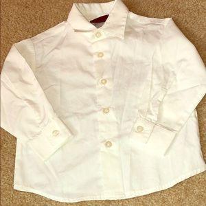BOYS - White DOCKERS Long Sleeve Shirt - Size 3T